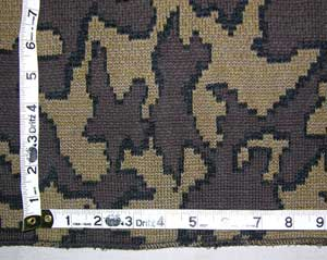 Camo Graphic by The Knit Tree: color Q: Mocha / Black / Brown