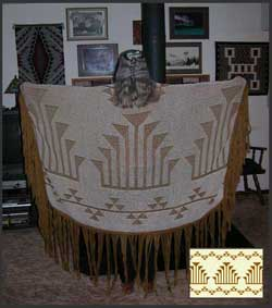 Dance Shawl with frogs foot and snake nose Indian basketry design