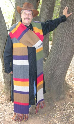 Hand Knit Doctor Who Season 12 Garter Stitch Scarf knit with Pure Wool from Brown Sheep Co