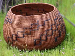 Photo of an Indian Basket submitted my a member of the LUISEÑO Indian Tribe