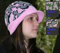 Our popular Knit Camo Visor Cap in color way N