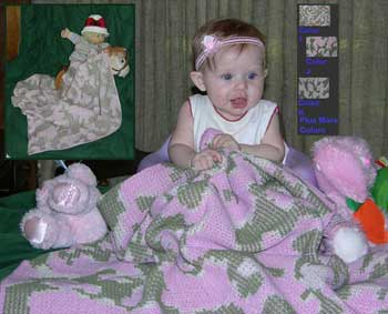 Knit baby camouflage blankets make great gifts