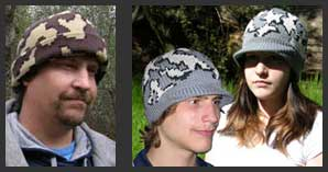 Camouflage Beanies and Visor Caps in many Styles