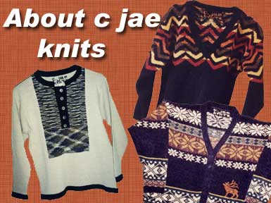 Photo of some of the designs by C Jae Knits