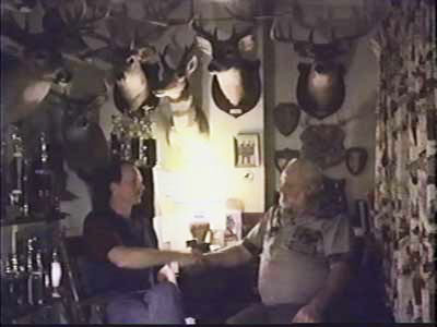 Bob Fratzke and Bill Ware in Bob's Trophy room