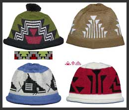 Native American Caps from Klamath, Salish, Modoc, and Wintu Indian Nations