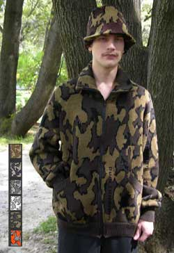 knit camo Winona Cardi Jacket in color way Q
