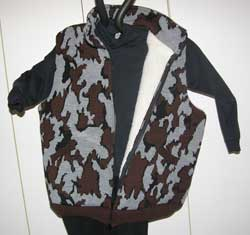 Knit Winona Camo™ Vest lined with sherpa in color way S