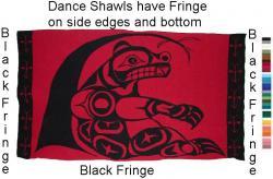 Dance Shawl ~ Acrylic or Merino ~ PNW Sitting Bear Design ~ Salish Reproduction