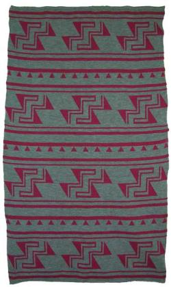 Stairway to Heaven Design featured on this two color Hupa Karuk Yurok Blanket