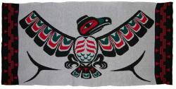 Eagle with Spreading Wings is honored in this 4 Color Pacific Northwest Blanket