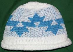 Morning Star Native Basketry Mark on this Baby Indian Beanie Acrylic