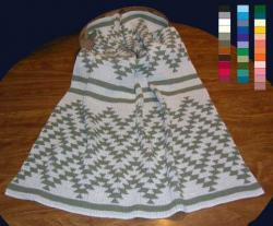 Friendship Design Featured on this Native knit Baby Crib Size Blanket