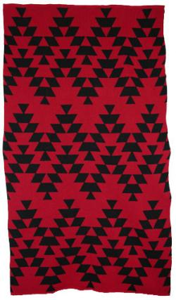 Friendship Design featured on this two color Hupa Karuk Yurok Blanket