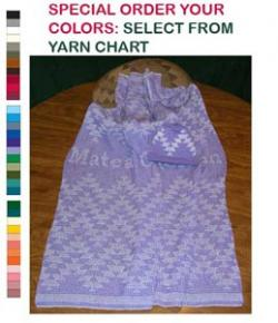 Baby Personalized Knit Blanket & Cap ~ Friendship Design ~Choose Colors & Size
