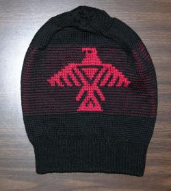 Anishinaabe knit Native Toque honouring the Thunderbird