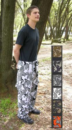 Knit Cargo Camouflage Pants with the Winona Graphic shown in color G Snow Camo