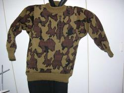 winona knit Camo crew neck sweater in color way Q