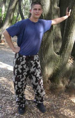 Knit Camouflage Sweat Pants select color size yarn fiber