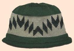 Walking on the Mountain Indian Design is featured on this Native Hat Roll Hem