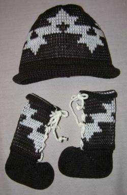 Acrylic Baby Bootie & Cap Set ~ Morning Star ~ Select Size & Colors