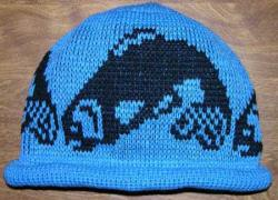 Pit River Salmon Native Basketry Mark on this Child Indian Beanie