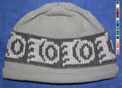Little Bear Paw Pacific Northwest Art Style in this Native Knit Beanie