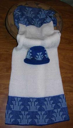 Foot Design Featured on this Native Baby Receiving Blanket and Cap Set