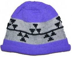 Triple Snake Nose Native Basketry Mark on this Child Indian Beanie