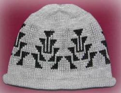 Frog Foot One Indian Design is featured on the Knit Native Adult Hat