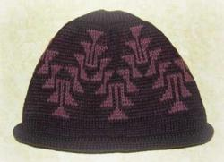 Native Knit Basketry Cap featuring the Frog Foot 2 Design ~ Select OPTIONS