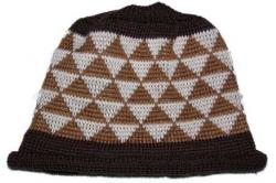 Stacking Triangles Basketry mark on this knit Adult Native Beanie Cap