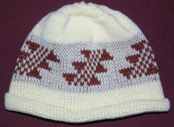Little Flint Native Basketry Mark on this Baby Indian Beanie Acrylic