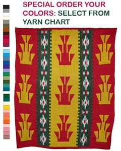 Foot Design featured on this four color Hupa Karuk Yurok Lap Blanket