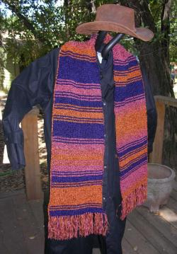A Replica of the Season 18 Dr Who Style Scarf ~ Chenille ~ Garter Stitch ~ 8 foo