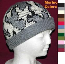 Camo Ski Runner Beanie w Lycra Rib Band ~ Create Color Way ~ Choose Size ~ Merin