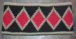 Snakeskin Basketry Design from Tribes of Central Ca Featured on this Native knit