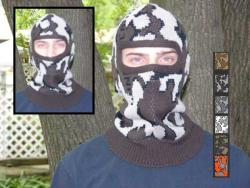 A Knit Winona Camo© Face Mask ~ shown in color E Acrylic Fiber: Classic