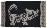 Wolf is honored in this Pacific Northwest Knit Blanket
