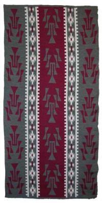 Frog Foot Design featured on this four color Hupa Karuk Yurok Blanket