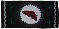 Salmon is honored in this 4 color Pacific Northwest Knit Blanket