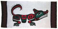 Wolf is honored in this 4 Color Pacific Northwest Knit Blanket