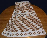 Deer Rib Design Featured on this Native knit Baby Crib Size Blanket