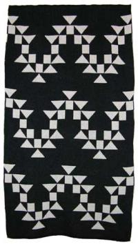 Osprey Design featured on this two color Hupa Karuk Yurok Blanket