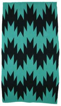 Swallow Tail Design featured on this two color Hupa Karuk Yurok Blanket