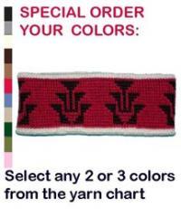 Knit Headband ~ Frog Foot ~ Select Own Colors in Merino Wool or Acrylic Yarn