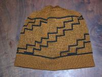 Knit Basketry Hat  inspired by the LUISEÑO Indians of SouthWest Ca