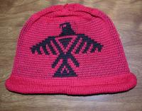 Anishinaabe knit Native Hat honouring the Thunderbird