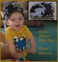 Baby or Child Camo Ridge Runner Newsboy Hat