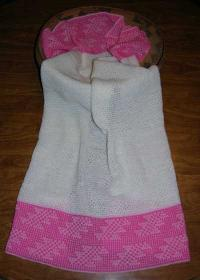 Flint Design Featured on this Native Baby Receiving Blanket